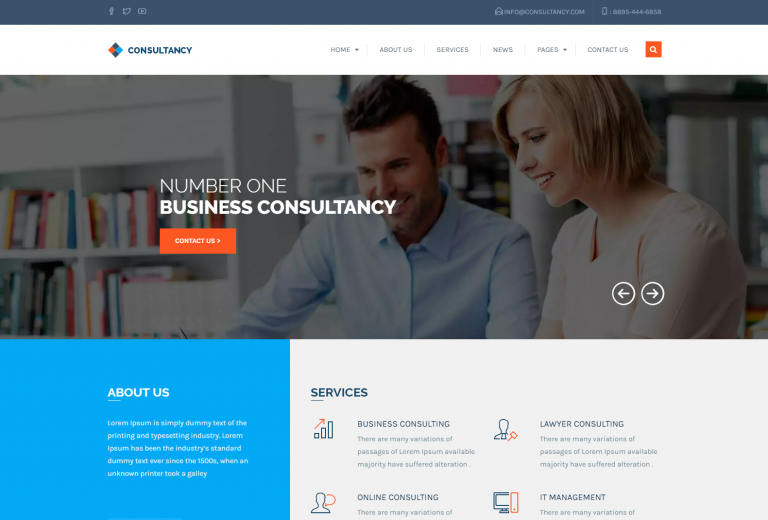 Business & Consultancy WordPress Theme